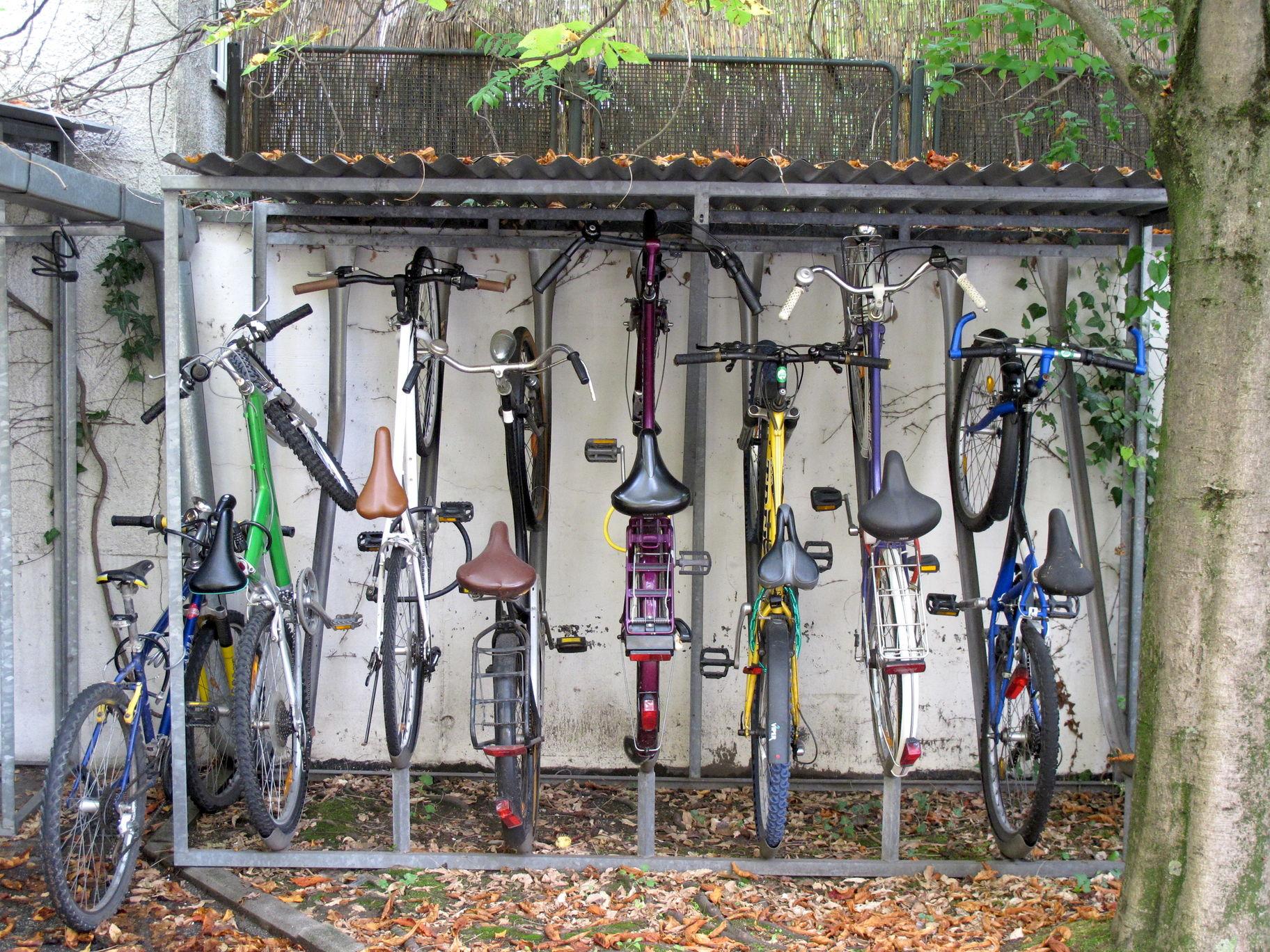 Fahrradständer Deutsche Burse Studentenwohnheim Schwabing